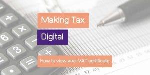How to view your VAT certificate online